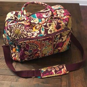 Vera Bradley Plum Crazy Weekender Bag